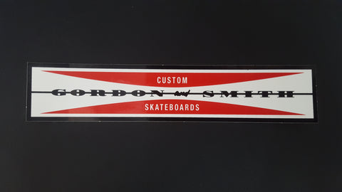 G&S Gordon and Smith Custom Skateboard STICKER - Bar Logo  6.25""