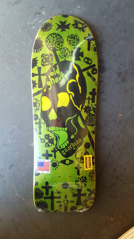 VISION Old Ghost GUARDIAN reissue skateboard deck - MODERN CONCAVE GREEN STAIN