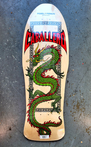 Powell Peralta Steve Caballero DRAGON old school reissue skateboard deck- NATURAL
