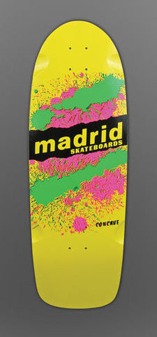 Madrid Paint Explosion YELLOW Reissue Skateboard