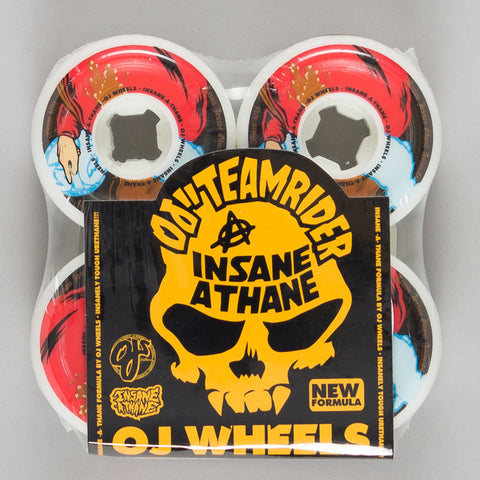 OJ wheels Jason Jessee Ghost Animal 58mm 101a WHITE