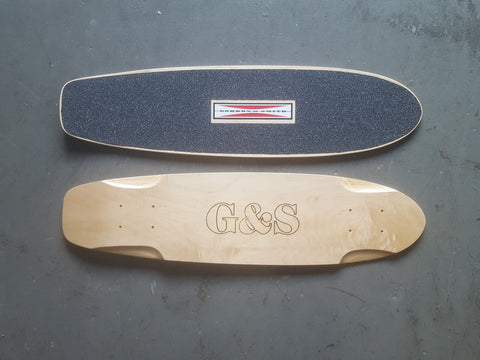 G&S Warp Tail Square Tail  Skateboard Deck NATURAL