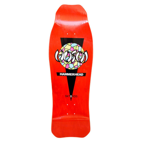 Hosoi Skateboards Double Kick Oldschool reissue Deck RED  stain – 10.25 X 31