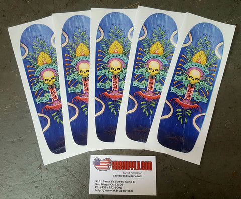 SK8SUPPLY shop DECK stickers art by Wes Humpston (dogtown artist) 1 pc.