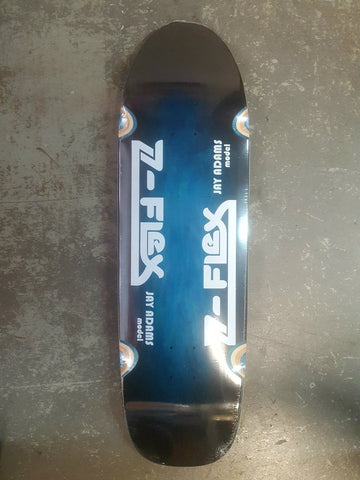 Z Flex JAY ADAMS Pro Pool shape Skateboard Deck BLUE HALO  9.5""
