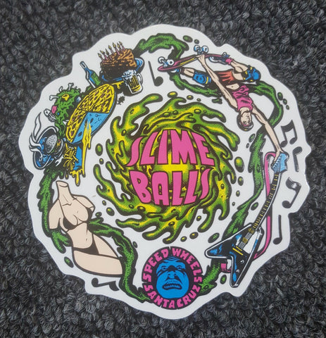 Santa Cruz Speed Wheels Slime Balls sticker