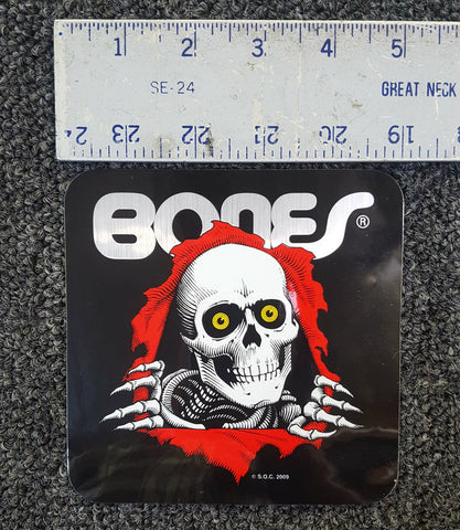 Powell Peralta Bones Ripper sticker BLACK