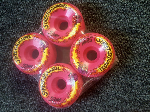 Street Plant Street Scoundrel wheels PINK 58mm 101a Mike Vallely