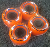 Rainskates Tsunami wheels  62mm 85A ORANGE