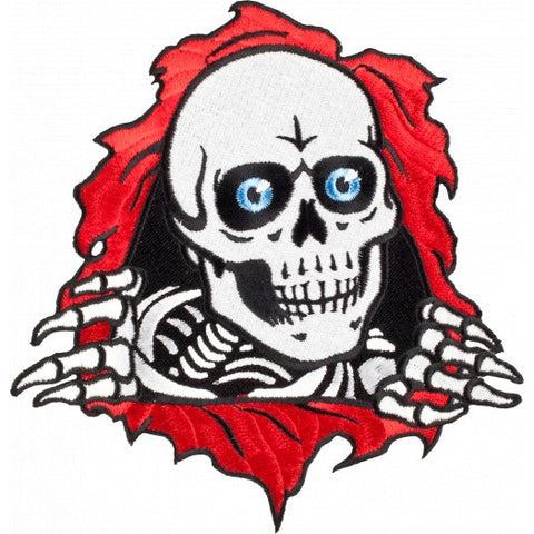 "Powell Peralta RIPPER logo PATCH 4"" RED WHITE"