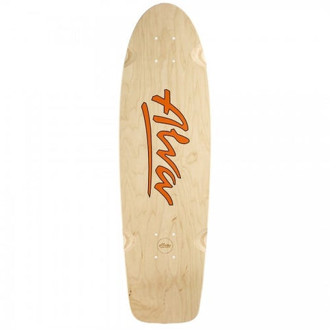 ALVA 78 LOST MODEL Skateboard reissue Deck - ORANGE LOGO