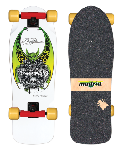 Madrid BEAU BROWN reissue skateboard COMPLETE - WHITE