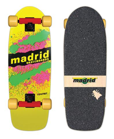 Madrid PAINT EXPLOSION reissue skateboard COMPLETE - YELLOW