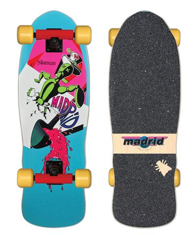 Madrid SHAMAN reissue skateboard COMPLETE - BLUE