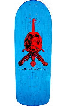 *Preorder* Powell Peralta RAY BONES skull and sword reissue skateboard deck- BLUE SNUB NOSE