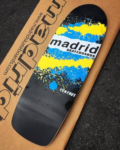 Madrid PAINT EXPLOSION reissue skateboard deck - BLACK