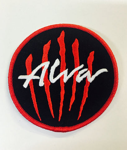 "Alva Scratch logo PATCH 3.5"" - BLACK"