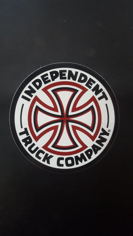 Independent Trucks ROUND Sticker - RED WHITE BLACK
