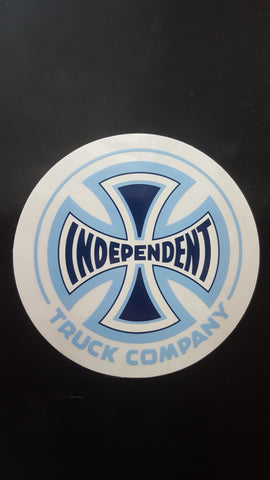 Independent Trucks ROUND Sticker - BLUE LIGHT BLUE