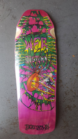 DogTown WEB reissue Skateboard Deck - PINK STAIN