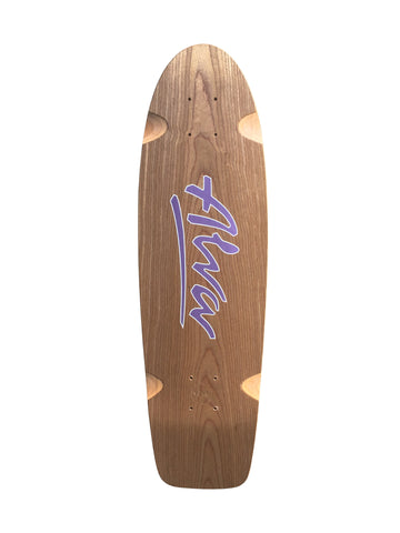 ALVA 78 Modern Reissue Lost Model Skateboard Deck - EXOTIC WOOD PURPLE