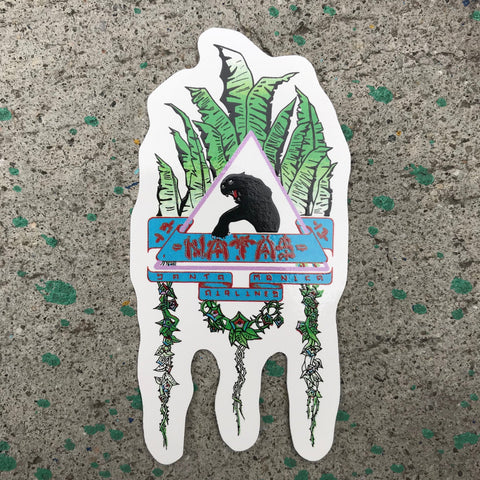 SMA Santa Monica Airlines Natas Panther Leaves sticker reissue - WHITE