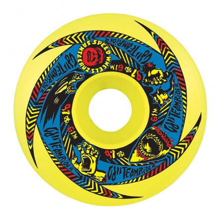 OJ II Team Rider Speedwheels 61mm 97a - NEON GREEN