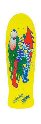 *Preorder* Santa Cruz SLASHER Reissue skateboard deck- YELLOW