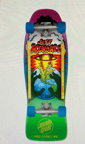 Santa Cruz reissue COMPLETE skateboard JEFF KENDALL End OF The World - FADE