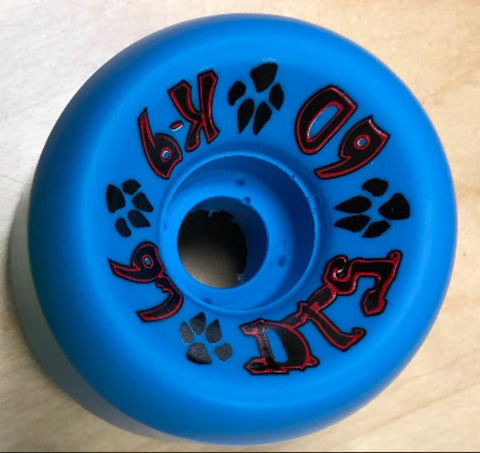 Dogtown K9 skateboard wheels 60mm 97a - BLUE