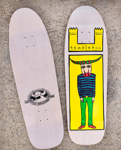TOY MACHINE Ed Templeton BULL MAN reissue skateboard deck