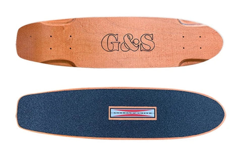 G&S Warp Tail Skateboard Deck SQUARE tail - ORANGE