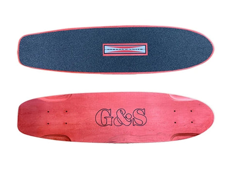 G&S Warp Tail skateboard deck SQUARE tail - RED
