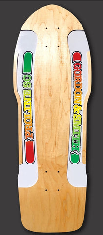 G&S PROLINE SIDECUT SC reissue skateboard deck - WHITE RAILS