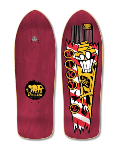 Black Label RIKY BARNES RIKY 2  reissue skateboard deck - BURGUNDY STAIN