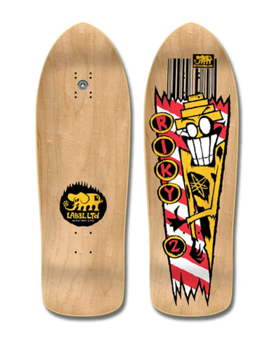 Black Label RIKY BARNES RIKY 2  reissue skateboard deck - NATURAL