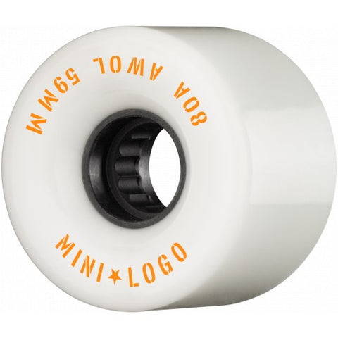 Powell MINI LOGO AWOL wheels - 59mm 80a WHITE