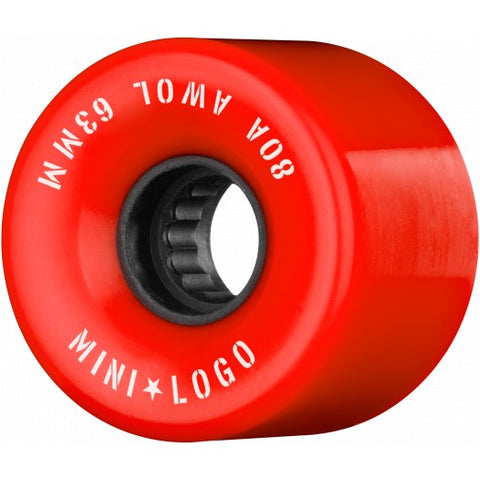 Powell MINI LOGO AWOL wheels - 63mm 80a RED
