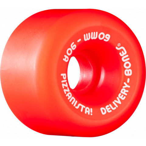 Powell Peralta Rat Bones x Pizzanista Wheels 60mm 90a - SAFETY RED