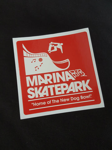 Marina Del Rey sticker  RED
