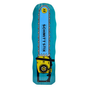 Schmitt Stix Chainsaw Re-Issue skateboard Deck - BLUE