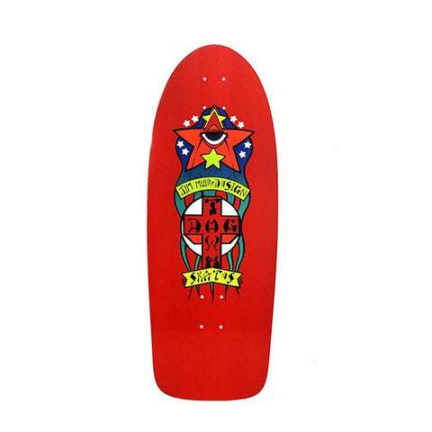 Dogtown TRIPLANE Old School reissue skateboard deck Jim Muir - RED