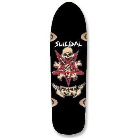 "Suicidal Pool Series Possessed to Skate Skateboard Deck 8.75"" x 32.5"" (Black)"