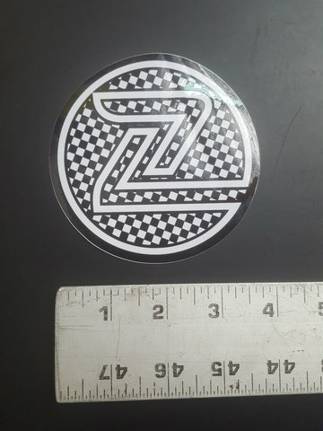"Z Flex Sticker (4"" round checkers)"