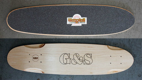 G&S Warp Tail 2 Reissue Skateboard Deck NATURAL