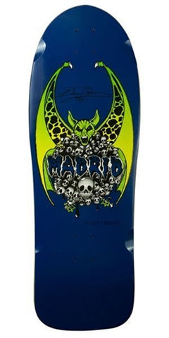 Madrid BEAU BROWN Bat Skulls reissue skateboard deck - BLUE