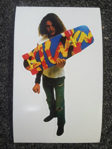 Tony Alva TA Splatter Die Cut sticker WHITE