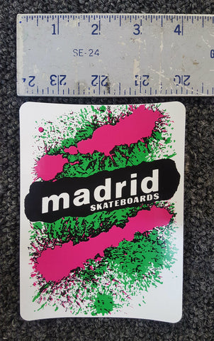 Madrid splatter logo sticker Limited Edition