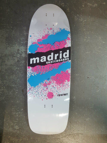 Madrid Paint Explosion reissue skateboard deck WHITE