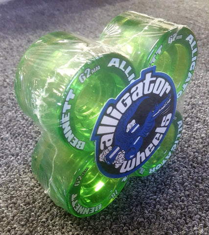Bennett Alligator wheels 62mm 78a reissue translucent GREEN